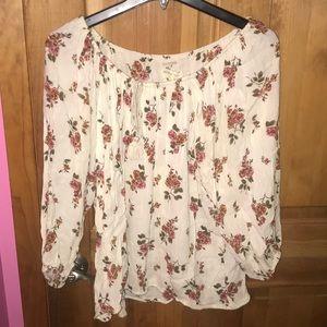 RL boho floral ogg white shirt